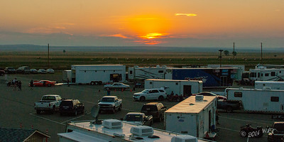 Sunset on the Pits