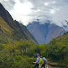 On the inca Trail headed to Machu Picchu.  Stunning views in the Andes Mountains.