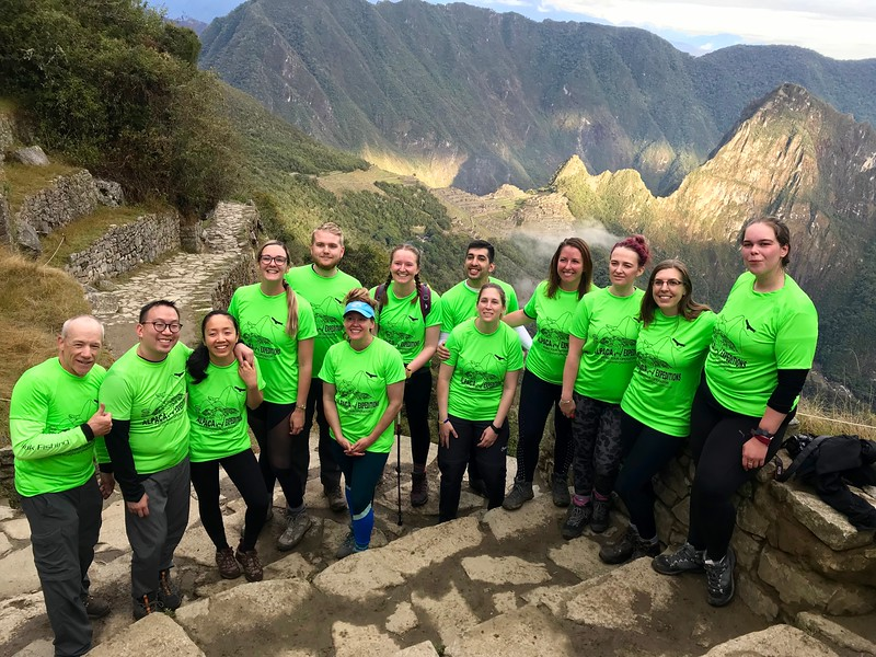 """We are all feeling great. We are all feeling accomplished. Machu Picchu is """"right there"""" behind us."""