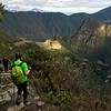Machu Picchu seems to have a spotlight on it as we make our descent to the ancient citadel.