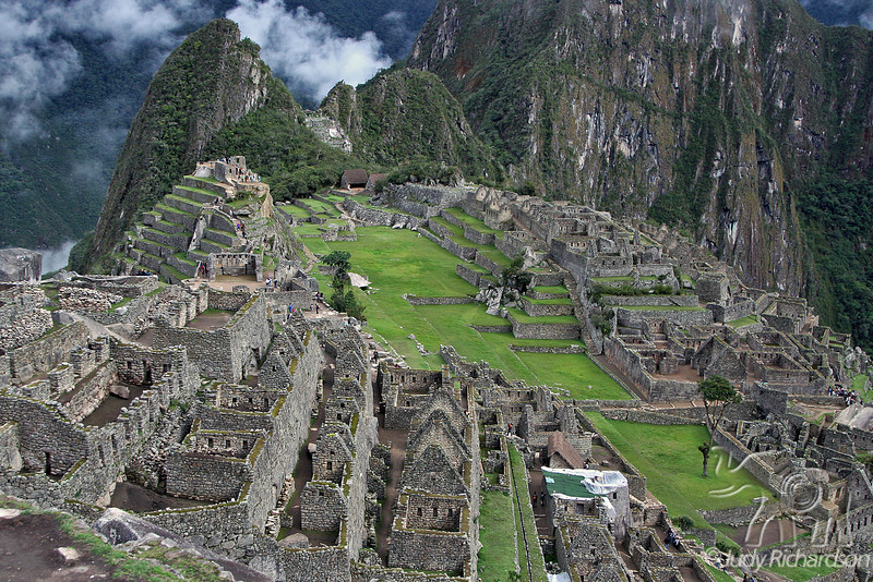 Early morning dawn on ruins at Machu Picchu