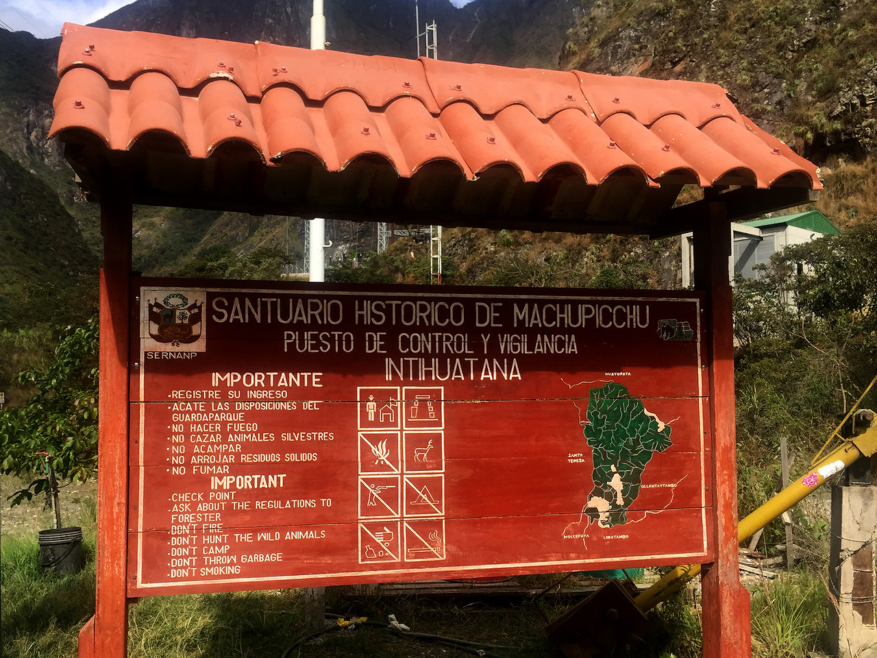 End of motorable road to Machu Picchu, Peru