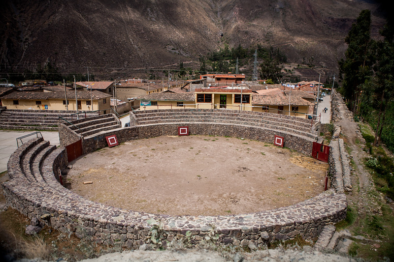The site of Olantaytambo, seen on the way from Cusco to Machu Picchu