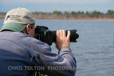 Taking photographs at Mackay Island NWR