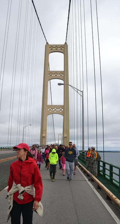 Mackinac Bridge Walk 2013