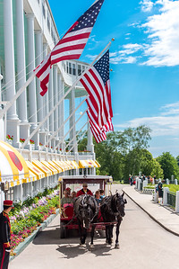 The Grand Hotel in daytime, Mackinac Island