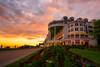 The Grand Hotel at Sunset.  Mackinac Island Michigan.