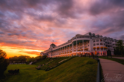 The Grand Hotel during Sunset