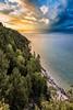 A common viewed vantage point at Arch Rock.  Mackinac Island, Michigan