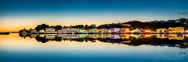 Mackinac island at Night from the water