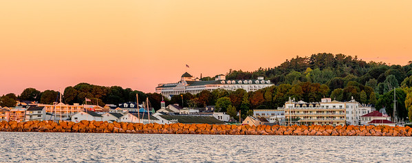Mackinac Island - The Grand Hotel  overlooking Mackinac