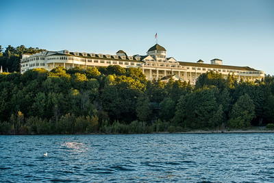 Mackinac Island - The majestic Grand littel after sunrise on a personal cruise with Tim & Jeff of Mackinac.   #mackinacisland #michigan #grandhotelmichigan