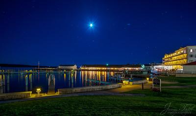 Mackinac Island at night