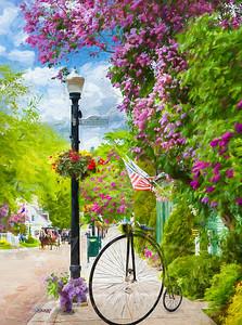 Mackinac Island during Lilac Festival