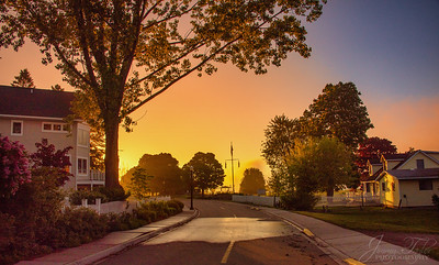 Sunrise on Mackinac Island - Main Street