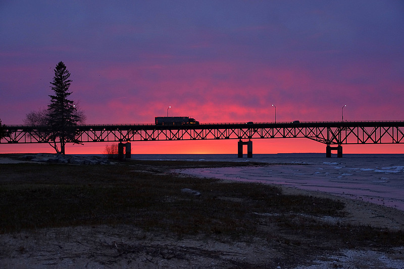 Sunset Mackinaw Bridge