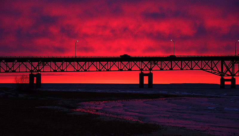 Mackinaw Bridge Sunset