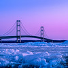 Blue Ice, Magenta skies & the Mackinac Bridge this morning about 20 minutes before sunrise and it was bitting cold with that wind - fast frostbite weather.    #Michigan #MackinacIsland #Mackinac #PureMichigan #MichiganAwesome #MliveNews #landscapephotography #puremichigan #mackinaw #upnorth #greatlakes #puremittenpride #natgeotravel #travelandleisure #travelawesome #greatlakesproud #mynorthmoments #mackinawcity #mackinawchamber #mackincbridge  #mightymac #sunrise  #blueice