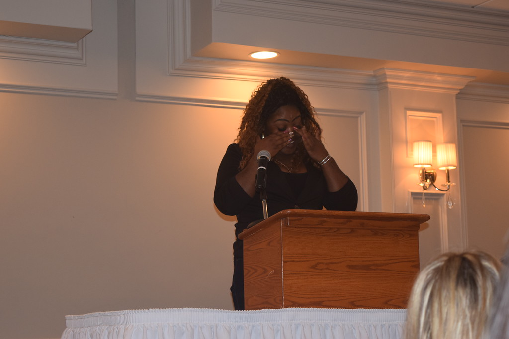. Everyone who attended Macomb Habitat\'s Women\'s Luncheon was moved by April Chatman\'s story. It began when she and her son stood up to a gang bullying her son\'s friend and ended with her buying a Habitat home and a village of volunteers helping with renovations.