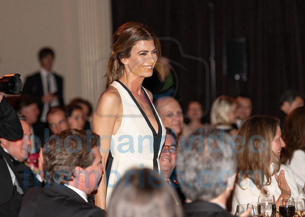 Argentine First lady Awada acknowledges applause at Global Citizen Award