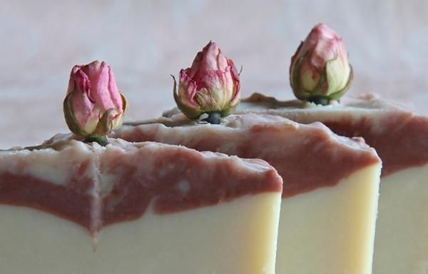 Rosebud soap