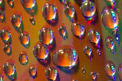 Water Droplets on DVD Macro