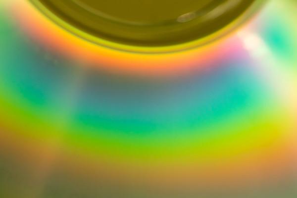 Rainbow Colors on a CD