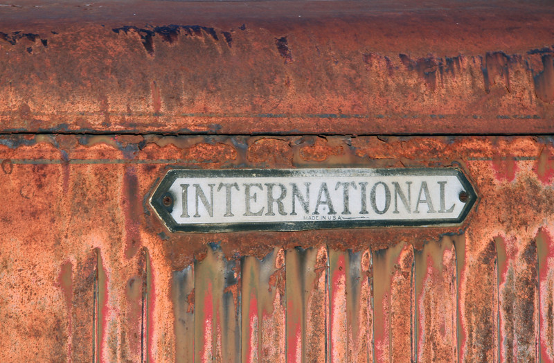 Weathered International badge