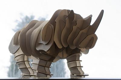 Cardboard rhino by Muji