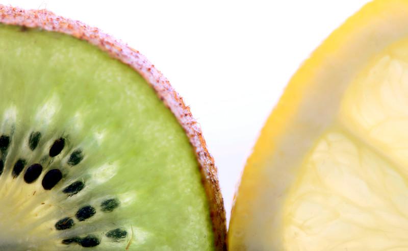 Kiwi Fruit and Lemon Slice