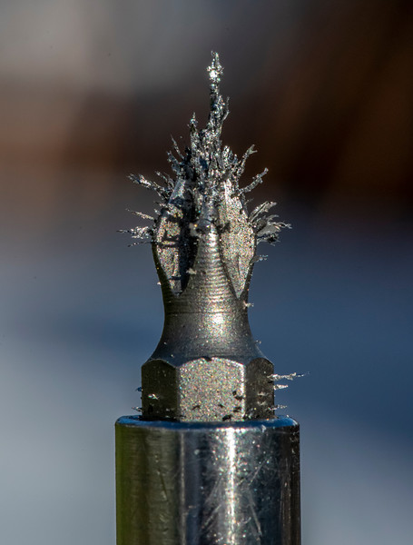 A Screwdriver Head With Metal Filings 1/9/21