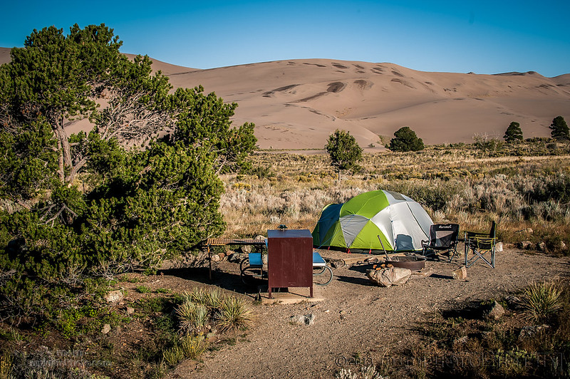 Great Sand  Dunes N.P.,  with the katabatic tent and 30mph steadies. 2013