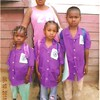 The original 3. Edwige with Angela, Ravaka and Angelo in their school shirts.