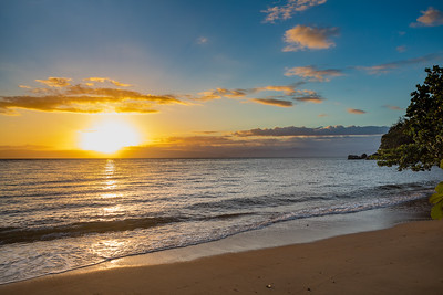Idylic sunset over indian ocean, Madagascar