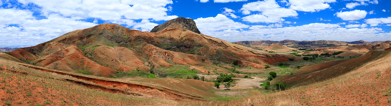 Madagascar countryside highland landscape