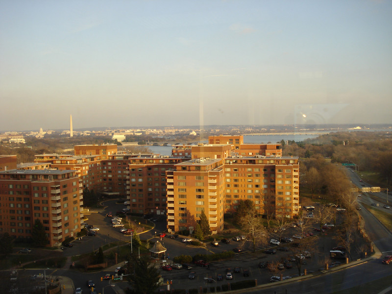 view from my office in Rosslyn, VA