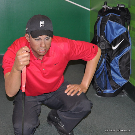 Tiger Wood - Hollywood's Wax Museum - Madame Tussaud's - A Must Watch in LA