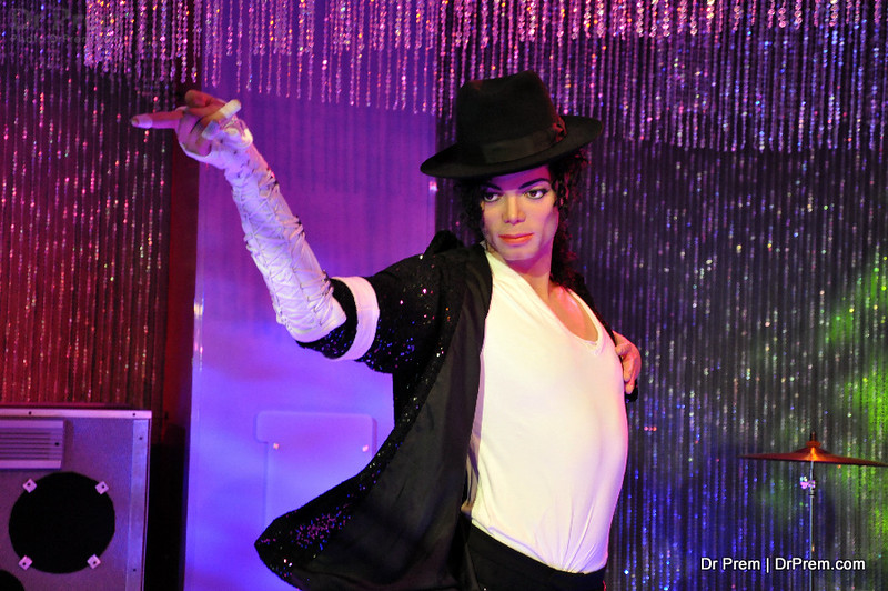 MJ - Hollywood's Wax Museum - Madame Tussaud's - A Must Watch in LA. Michael Jackton was known as king of pop. He was an American singer, actor and business. Billie Jean, Thriller, Beat, Smooth Criminal, Heal the world, They dont care about us and Dangerous are few successful album and song which made Michael a king of pop.