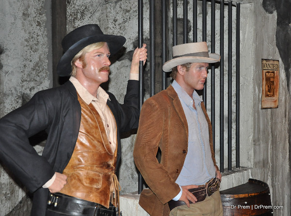 Robert Redford and Paul - Hollywood's Wax Museum - Madame Tussaud's - A Must Watch in LA