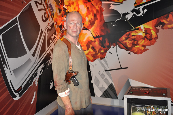 Bruce Willis - A Scene from Die Hard - Hollywood's Wax Museum - Madame Tussaud's - A Must Watch in LA