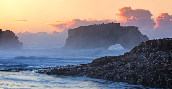 Natural Bridges State Beach at Sunrise V2