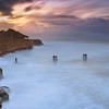 Davenport Pier at Sunrise during winter storms