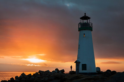 Looking forward to the New Year, Walton Lighthouse Dec 31, 2016, sunrise