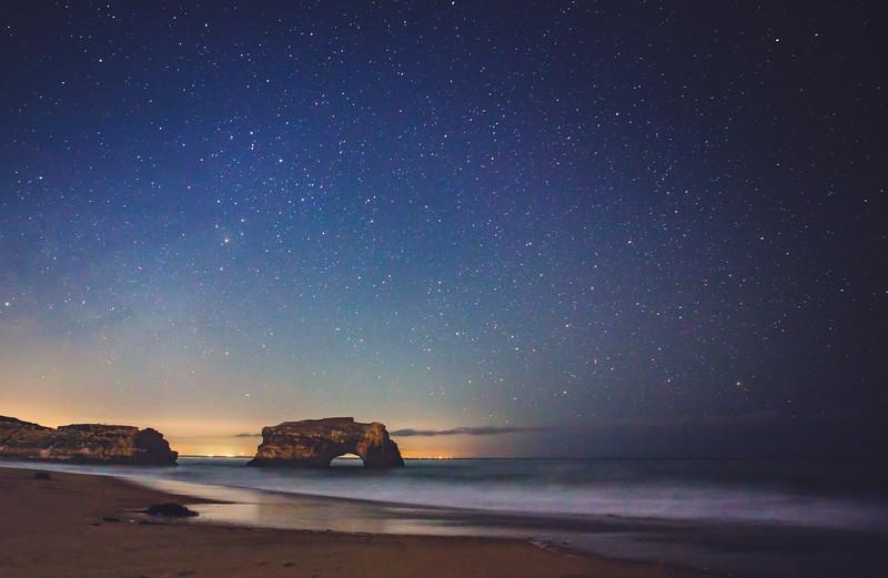 Natural Bridges under starry light