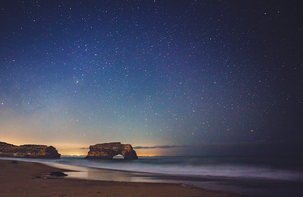 Natural Bridges under starry light