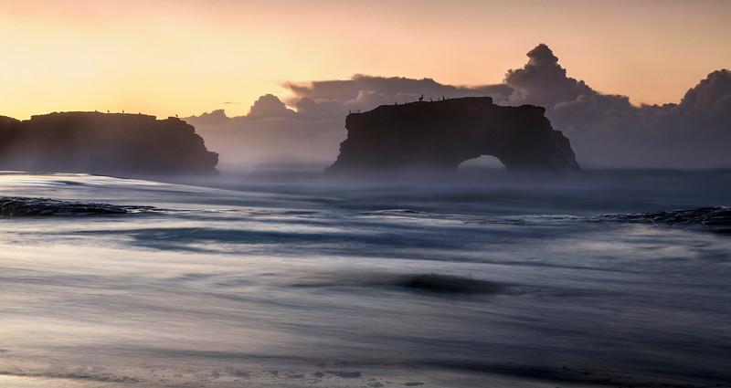 Natural Bridges State Beach at Sunrise  V1