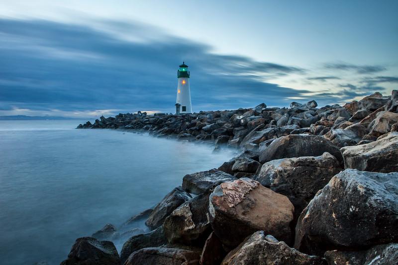 Walton Lighthouse at dusk