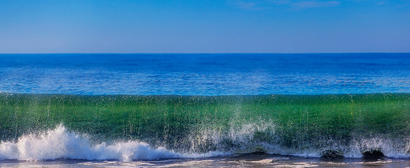 Rolling surf in Blue and Green