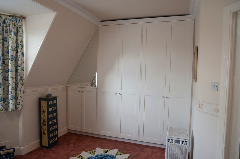 MDF wardrobes with paint finish , Shaker style doors