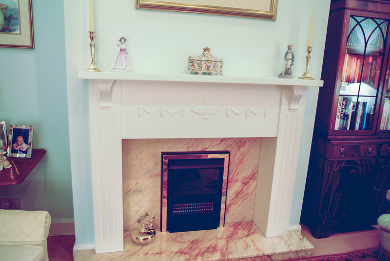 Fire surround from Hardwood and MDF for paint finish.